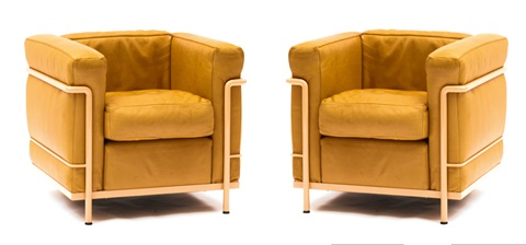 Zwei Sessel Lc 2 Pair By Le Corbusier Charlotte Perriand And Pierre