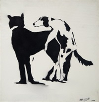 mate dogs by blek le rat
