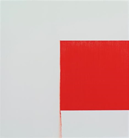 exposed painting cadmium red pale by callum innes