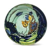 wandplatte mit tulpen by rozenburg ceramics (co.)