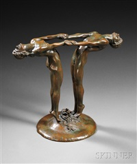 bacchante flower holder by maude sherwood jewett