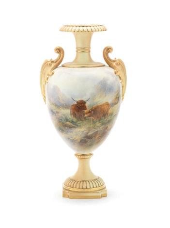 A Large Royal Worcester Vase By John Stinton On Artnet