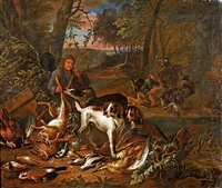 chiens et chasseurs by adriaen de gryef