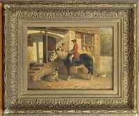 scène galante à cheval by charles meer webb
