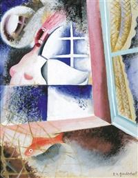 femme à la fenêtre by roger van gindertael