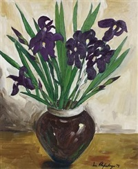 irises in a vase by iris ampenberger