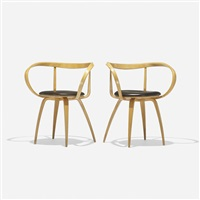 pretzel chairs (model 5890) (pair) by george nelson & associates