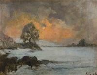 tramonto invernale by mario gachet