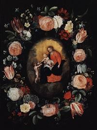 madonna im blütenkranz by philippe de marlier