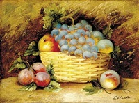 fruit still life (+ another; pair) by evelyn (née davy) chester