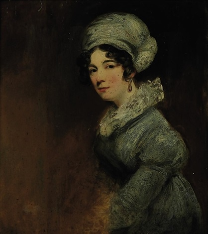portrait of sarah spencer wife of william 3rd baron lyttelton by john jackson