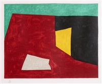 komposition in grün, rot und gelb by serge poliakoff