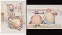 pescatori (+ il gioco; 2 works) by roberto masi