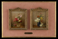vases fleuris (2 works) by gustave bienvetu