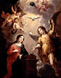 the annunciation by victor wolfvoet the younger