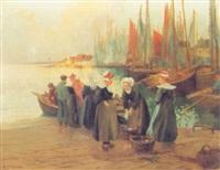 retour de pêche à concarneau by paul pascal