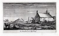 de nieuwekerck tot muyderbergh (from dreizehn landschaften mit dörfern aus der umgebung von amsterdam; after roelant roghman) by geertruyd roghman