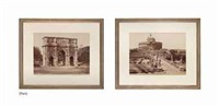 grand-tour photographs of views of italy (set of 6) by james anderson