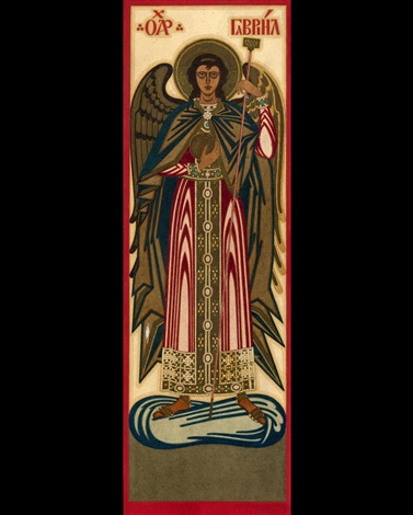the archangel gabriel by ivan yakovlevich bilibin