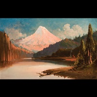 mt. hood from the hood river by edward hill