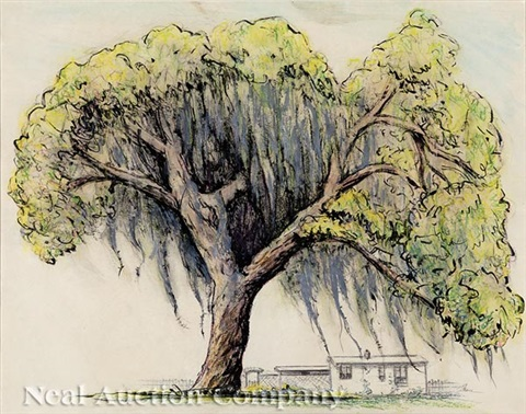 live oak with spanish moss by patrick henry bruce