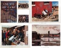 une vie de camp (set of 15) by pierre lelong