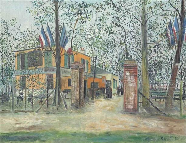 la guingette à montmagny by maurice utrillo