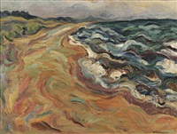 coastal surf by william henry johnson