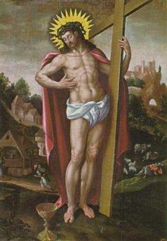 auferstandener christus am kreuz