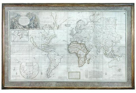 A New and Correct map of the Whole World by Herman Moll on artnet