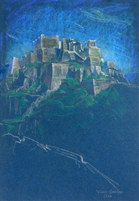 view of the acropolis by violet oakley