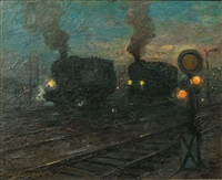 locomotives and signals by leonhard sandrock