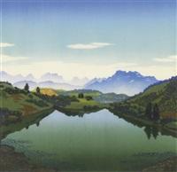 bergsee by karl pferschy