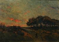 figure in a landscape by john worthington mansfield