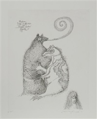 badger's shadow appears, medium goes into a trance by leonora carrington