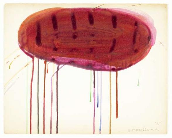senza titolo (red) by saburo murakami