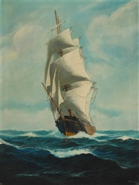 ship at sea by t. bailey