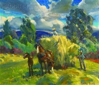 haying scene by macivor reddie
