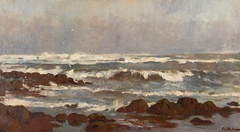 seascape by frederick william jackson