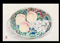 fruits on a plate by meiji hashimoto