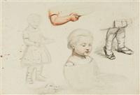 skizzen zu männern, frauen und kindern (14 works) by george smith