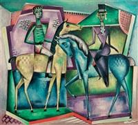 ontmoeting te paard - horseriders by reimond kimpe