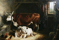cattle in an interior by william henry davis