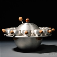 saturn punch bowl by russel wright