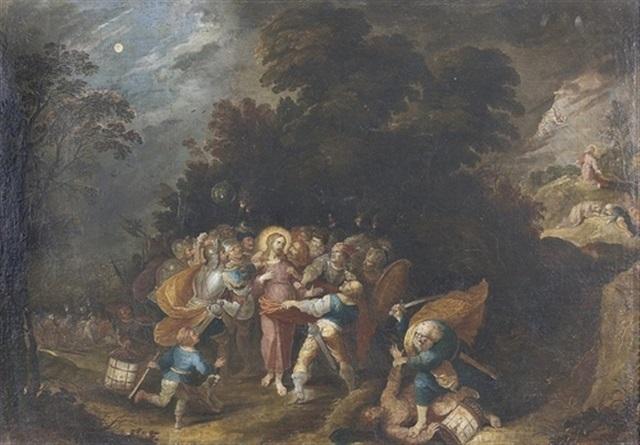 Die Festnahme Jesu Im Garten Gethsemane By German School 18 On Artnet
