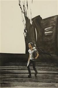 walking man by pyotr belenok