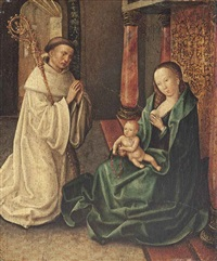 the virgin and child with a dominican bishop saint by roger van der weyden