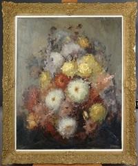 bouquet de fleurs by louis auguste victor henno