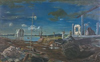 the ruins and the piano by s. sudjojono
