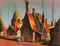 village scene by charles theodore allenbrook
